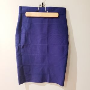 Romeo & Juliet Couture Blue Bodycon Ribbed Skirt
